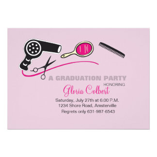 Beautician Beauty School Graduation Invites