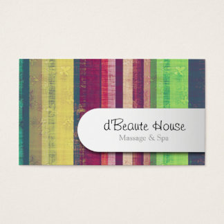 Beautician Business Card Butterfly Stripes