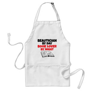 Beautician by Day Book Lover by Night Adult Apron
