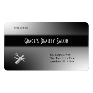 Beautician Design Black and White Business Cards