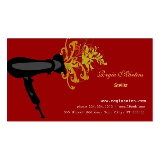 Beautician & Hair Salon Business Card Template