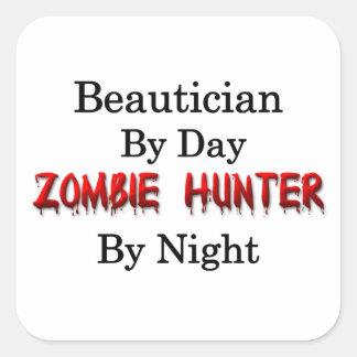 Beautician/Zombie Hunter Square Sticker