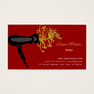Beauticians Hair Dryer Hair Salon Business Card