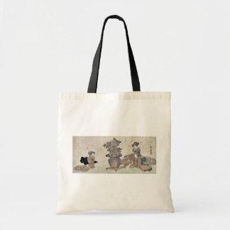 Beauties admiring the flowers by Utagawa,Kuninao Budget Tote Bag