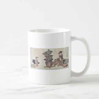Beauties admiring the flowers by Utagawa,Kuninao Classic White Coffee Mug