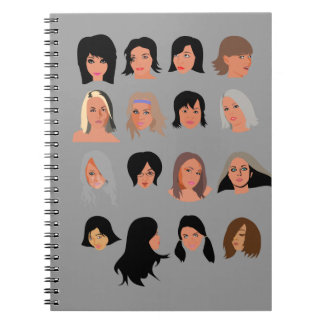 Beauties_by_Rones BEAUTY STYLE FASHION MODELS WOME Spiral Notebook