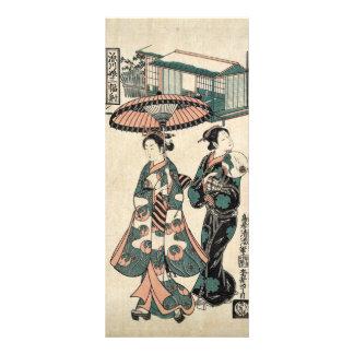 Beauties from Fukagawa. Triptych Rack Card