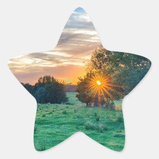 beautif de la puesta del sol de Carolina del Sur Pegatina En Forma De Estrella