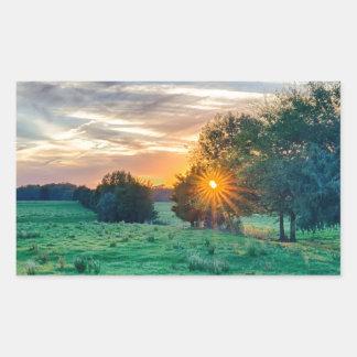 beautif de la puesta del sol de Carolina del Sur Pegatina Rectangular