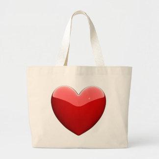 Beautifil red heart jumbo tote bag