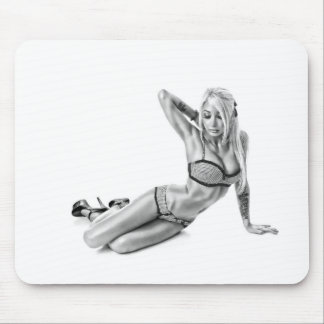 Beautiflul tattooed Suicidegirl Mouse Pad