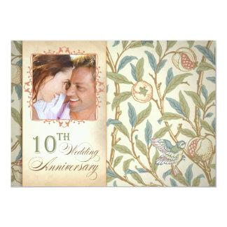beautiful 10th anniversary photo invitations