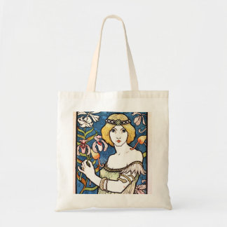 Beautiful 1896 Art Nouveau Design Budget Tote