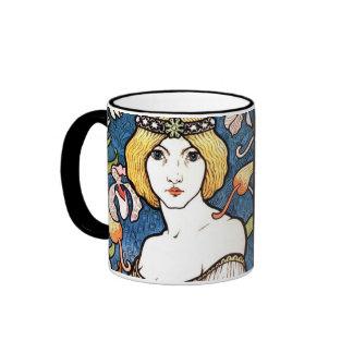 Beautiful 1896 Art Nouveau Design Mug