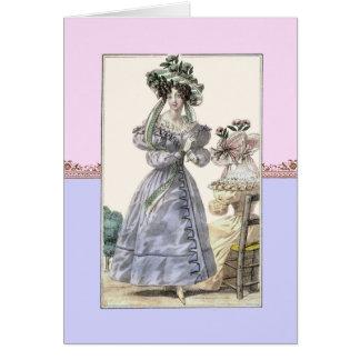 Beautiful 18th Century Women in Hats Birthday Card