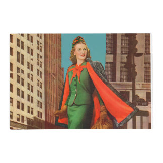 beautiful 1940s uptown girl placemat