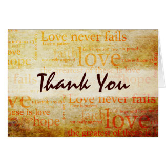 Beautiful 1 Corinthians 13 Thank You Card - V1
