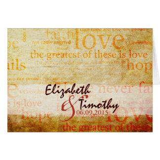 Beautiful 1 Corinthians 13 Thank You Card - V2