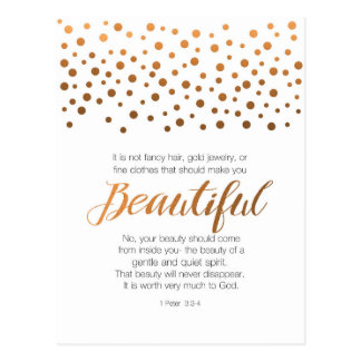 Beautiful 1 Peter 3 Scripture Verse Postcard