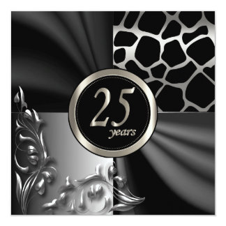 Beautiful 25th Anniversary Party Template Card