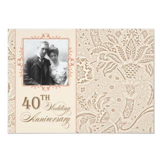 beautiful 40 anniversary photo invitations