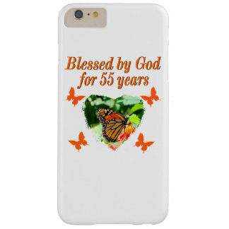 BEAUTIFUL 55TH BIRTHDAY BUTTERFLY BARELY THERE iPhone 6 PLUS CASE