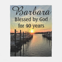 Beautiful 90th Birthday Personalized Blanket