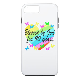 BEAUTIFUL 90TH CHRISTIAN BIRTHDAY PRAYER DESIGN iPhone 8 PLUS/7 PLUS CASE