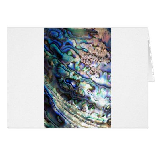 Beautiful abalone shell card