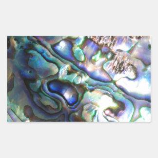 Beautiful abalone shell rectangular sticker