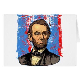 Beautiful Abraham Lincoln Portrait Greeting Card