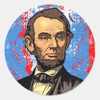Beautiful Abraham Lincoln Portrait Classic Round Sticker
