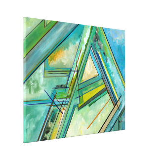 Beautiful Abstract Art Map Lineart Business Decor Canvas Prints