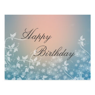 Beautiful abstract birthday design postcard