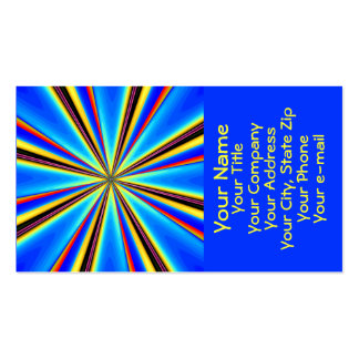 Beautiful Abstract Business Card: Blue Starburst 1 Business Card