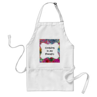 Beautiful Abstract Colorful Floral Swirls Flourish Adult Apron