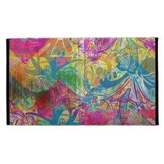 Beautiful Abstract Colorful Floral Swirls Flourish iPad Folio Cases