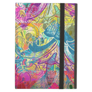 Beautiful Abstract Colorful Floral Swirls Flourish iPad Cases