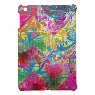 Beautiful Abstract Colorful Floral Swirls Flourish iPad Mini Cases