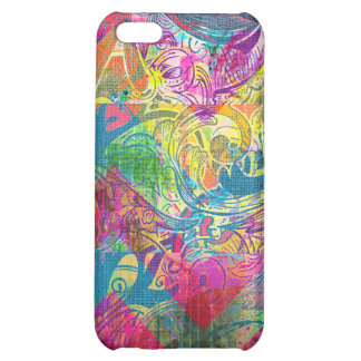 Beautiful Abstract Colorful Floral Swirls Flourish Case For iPhone 5C