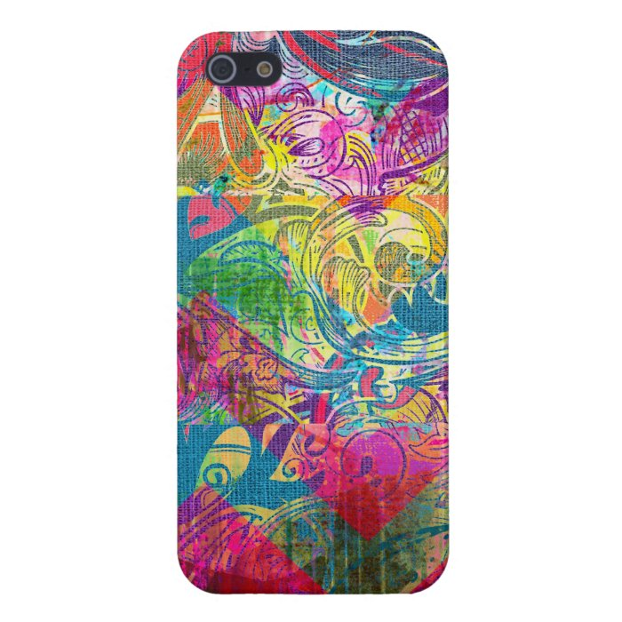 Beautiful Abstract Colorful Floral Swirls Flourish iPhone SE/5/5s Cover