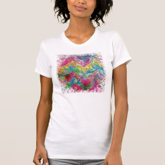 Beautiful Abstract Colorful Floral Swirls Flourish T-shirt