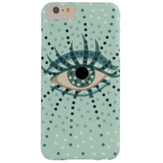 Beautiful Abstract Dotted Blue Eye Barely There iPhone 6 Plus Case