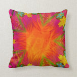 Beautiful Abstract Flower Throw Pillow