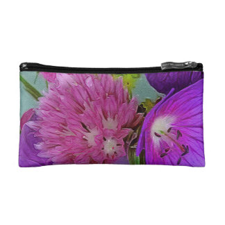 Beautiful Abstract Flowers Cosmetic Bag
