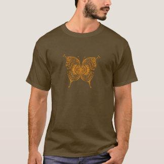 Beautiful Abstract Golden Tribal Butterfly T-Shirt