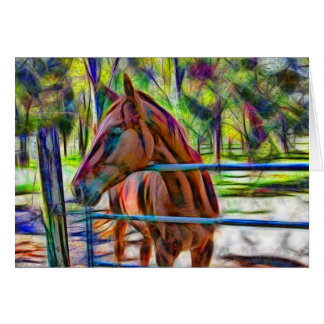 Beautiful abstract horse portrait card