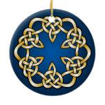 Beautiful abstract knotwork design ceramic ornament