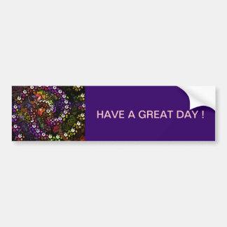 Beautiful abstract multi-floral design bumper sticker
