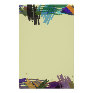 Beautiful Abstract Paint Brush Colors Flyer Design